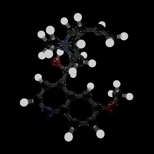 A pretty quinine molecule